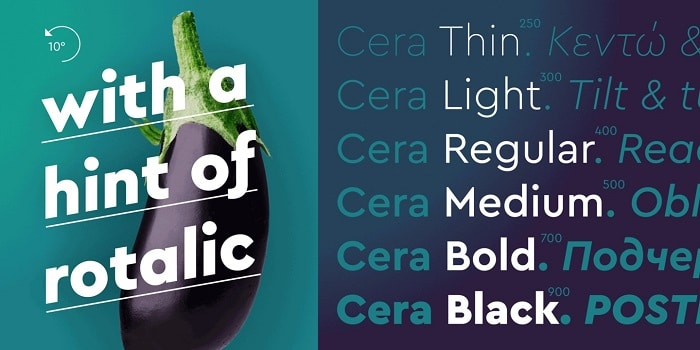 Cera Pro Font Family Free Download