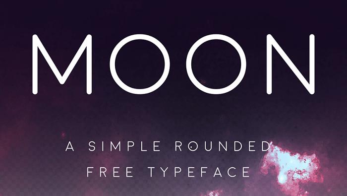 moon free font - Post