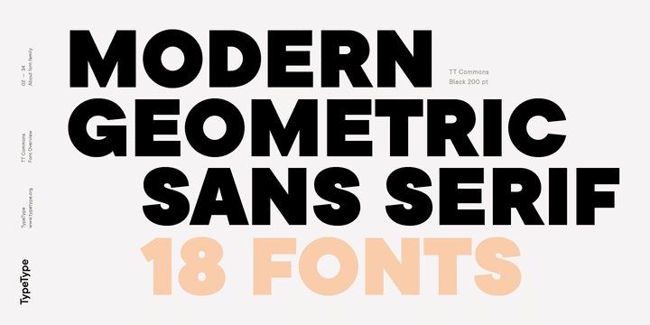 TT Commons Font Family Free Download