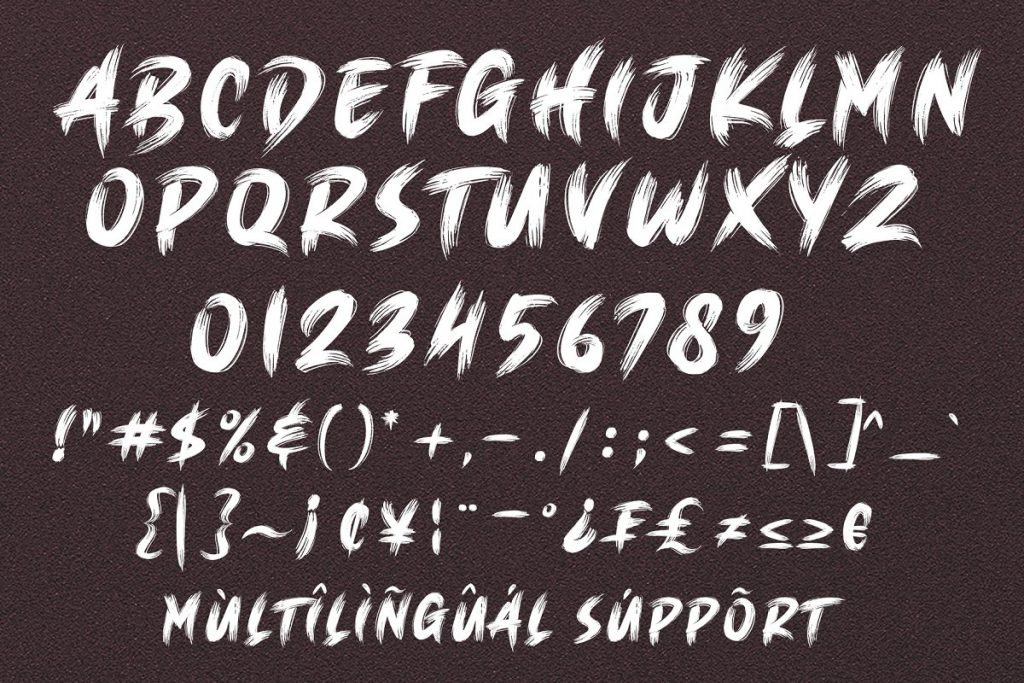 BRUSH KING Brush Font Free Download 8 - Post