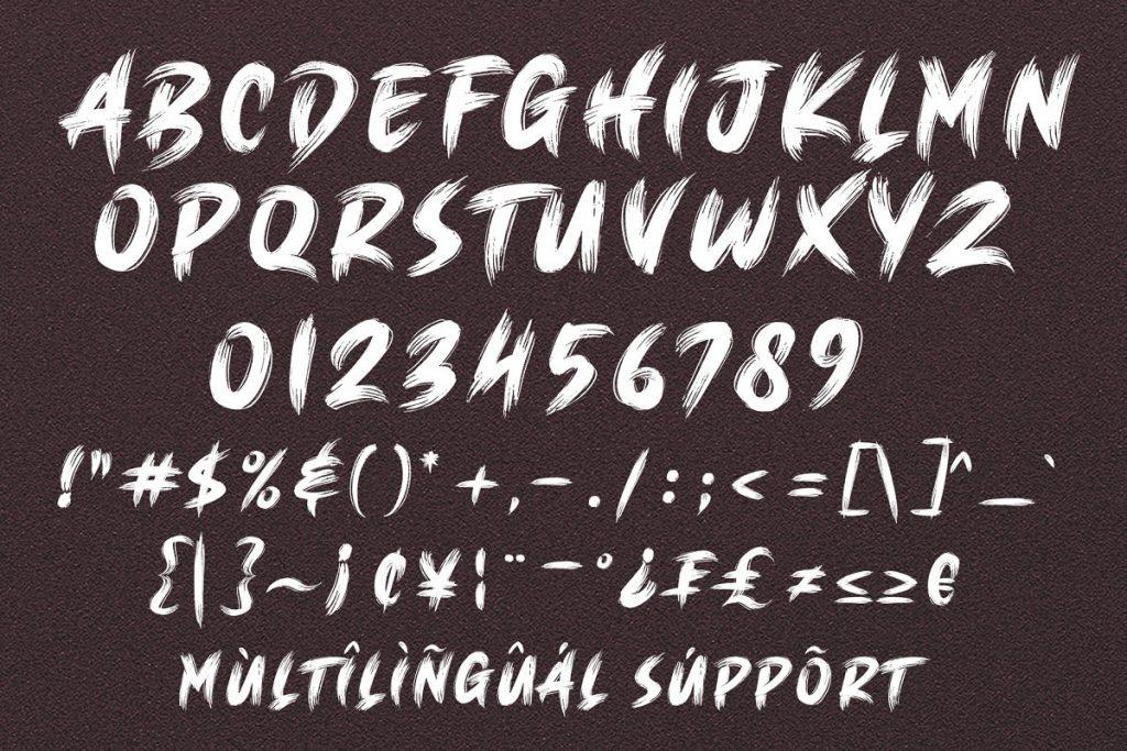 BRUSH KING Brush Font Free Download 8 - Post