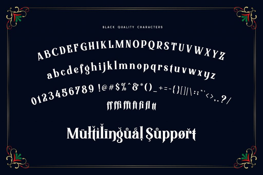 Black Quality Typeface Font Family Free Download 4 - Post