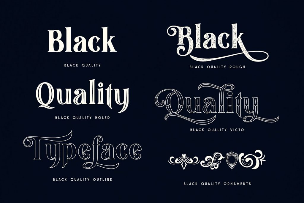 Black Quality Typeface Font Family Free Download 6 - Post