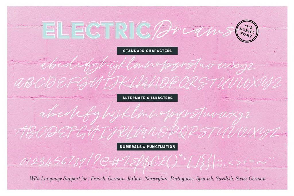 ElectricDreamsFont 1 - Post
