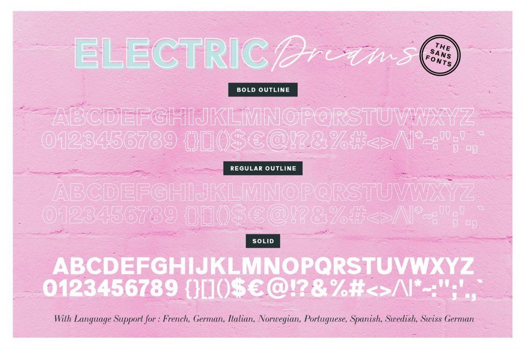 ElectricDreamsFont 2 - Post