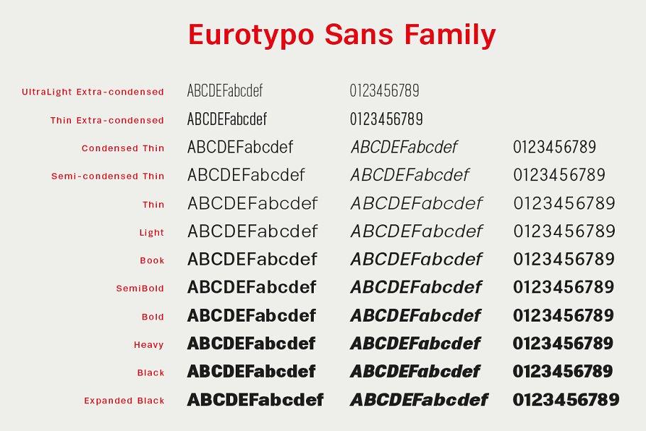 Eurotypo Sans Font
