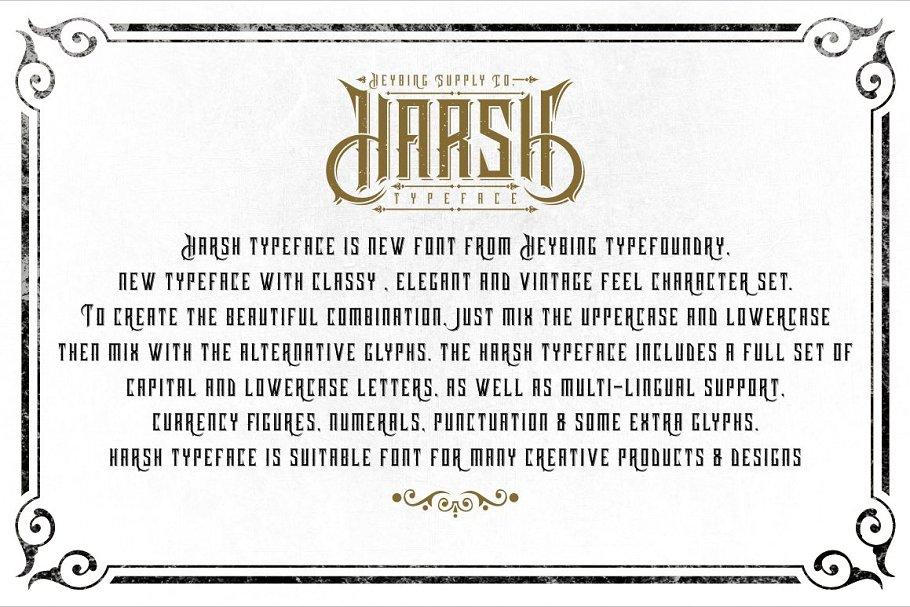 Harsh Typeface Font Family Free Download 3 - Post