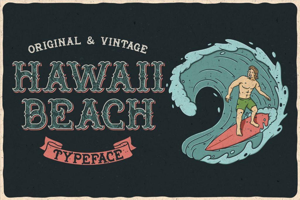 Hawaii Beach Font Free Download 3 - Post