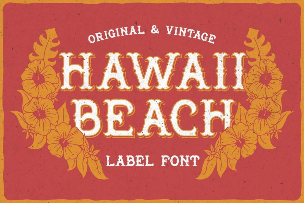 Hawaii Beach Font Free Download 5 - Post