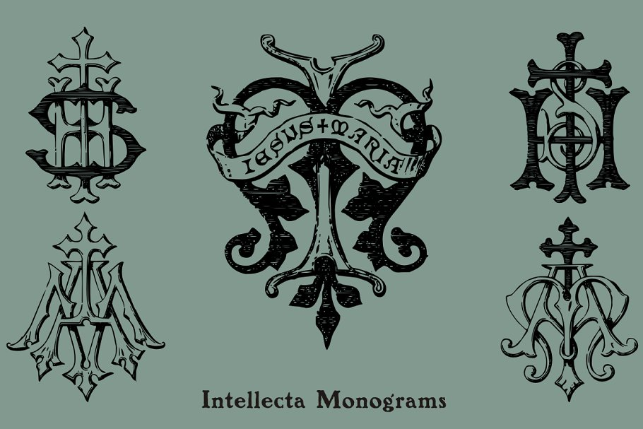 Intellecta Monograms Collection 3 - Post