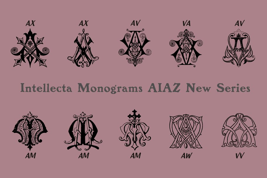 Intellecta Monograms Collection 5 - Post