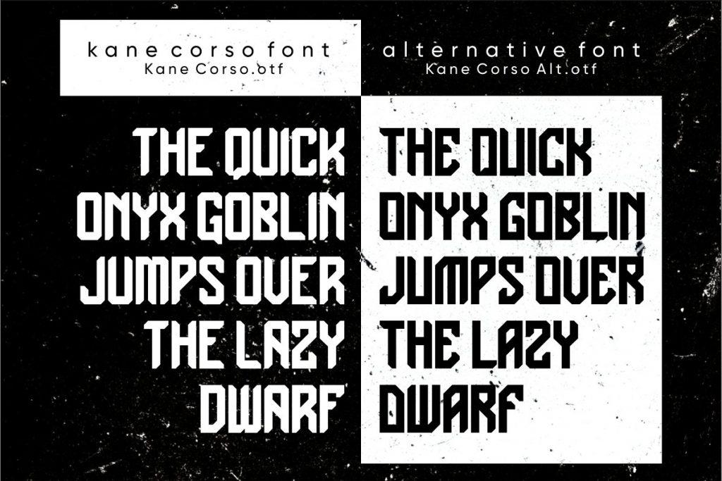 Kane Corso Font Free Download