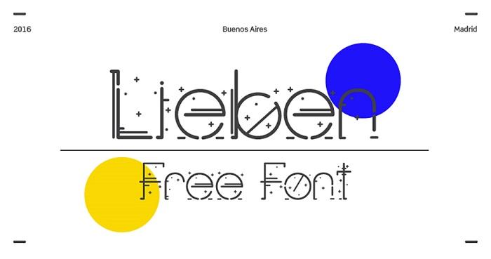 Lieben free modern fonts - Post
