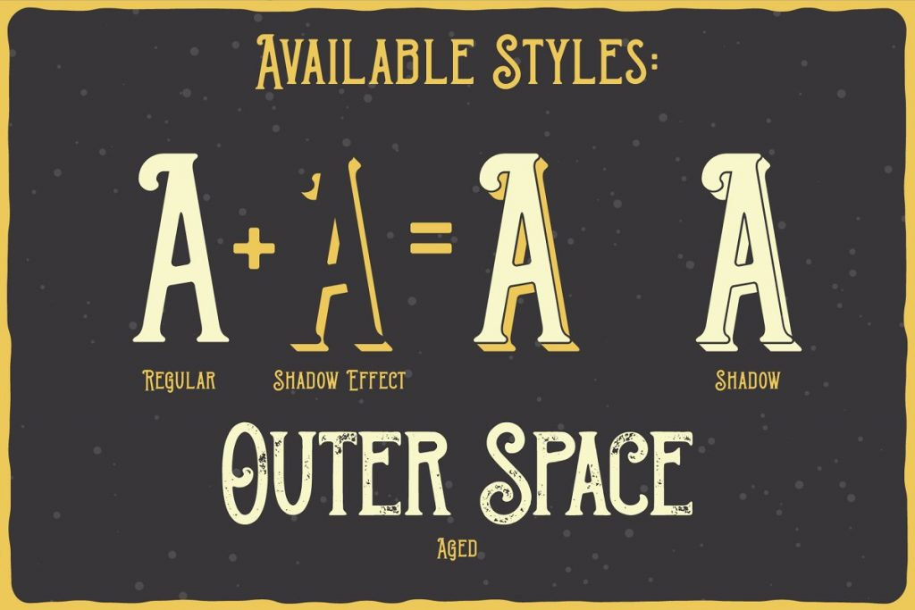 Outer Space Font Family Free Download 3 - Post