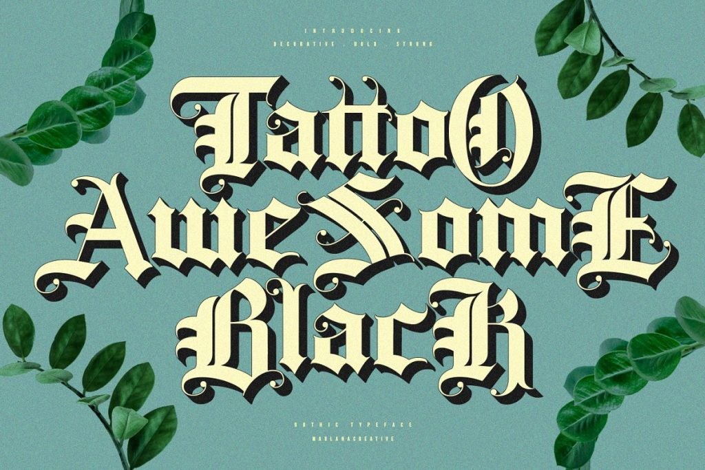 Rozex Bold Decorative Gothic Font Free Download 3 1 - Post