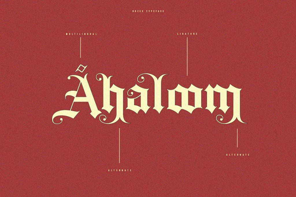 Rozex Bold Decorative Gothic Font Free Download 4 - Post