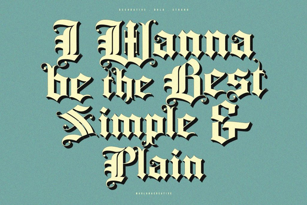 Rozex Bold Decorative Gothic Font Free Download 5 - Post
