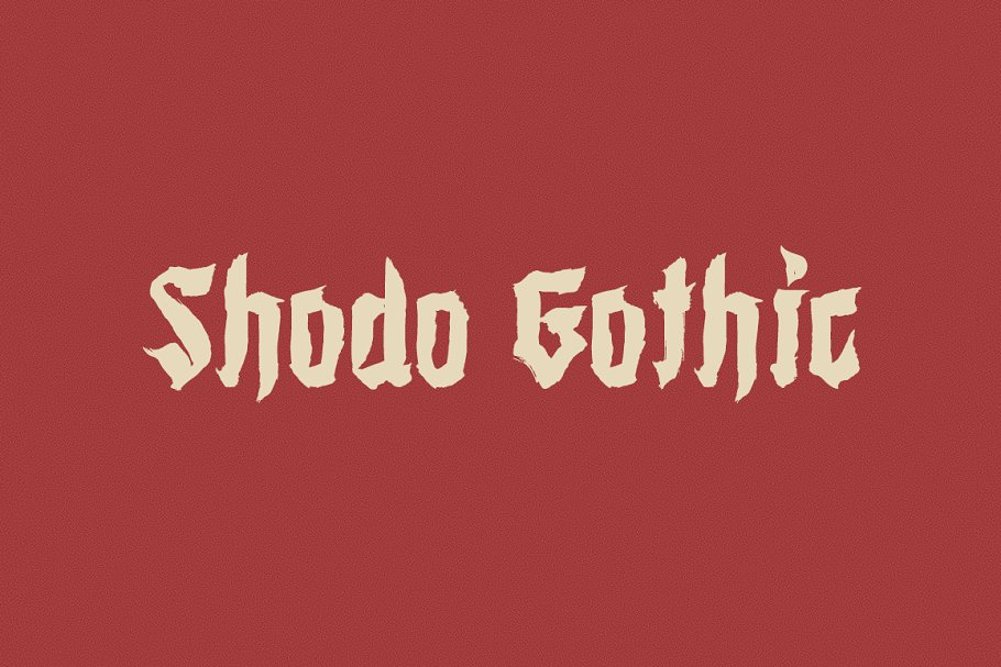 Shodo Gothic Font Family Free Download 4 - Post