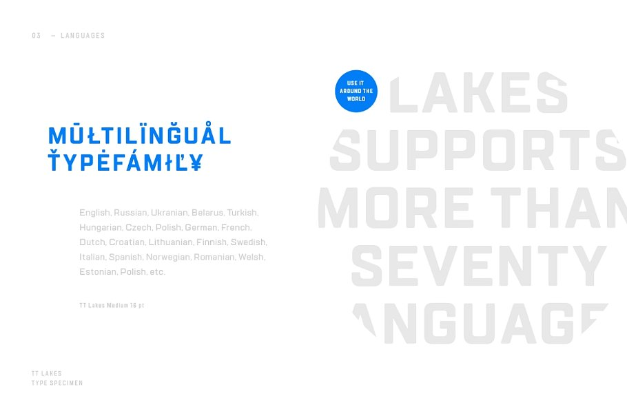 TT Lakes Font Family Free Download