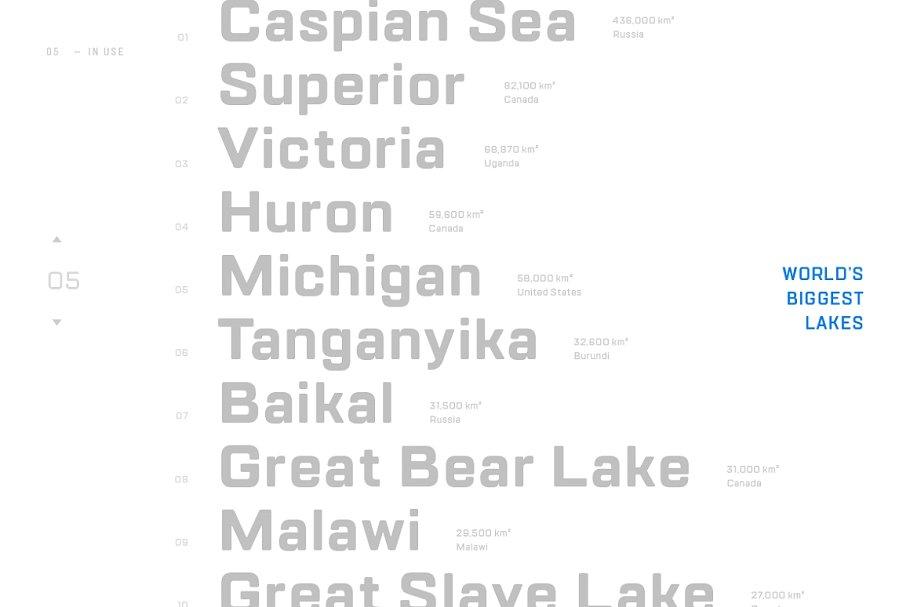 TT Lakes Font Family Free Download