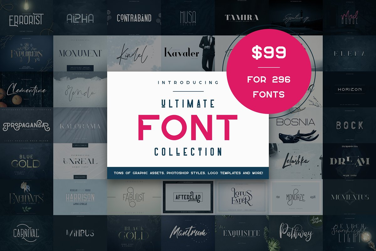 Download 295+ Premium Ultimate Font Collection Free Download