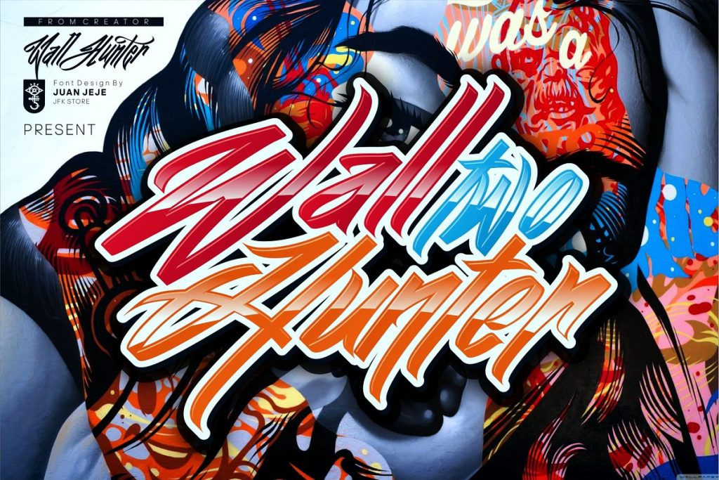 Wall Hunter II Graffiti Tag Font Free Download 1 - Post