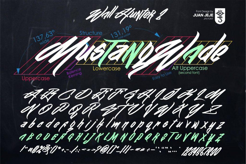 Wall Hunter II Graffiti Tag Font Free Download 3 - Post