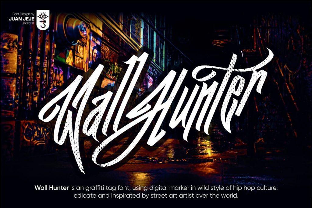Wall Hunters Graffiti Tag Font Free Download 2 - Post