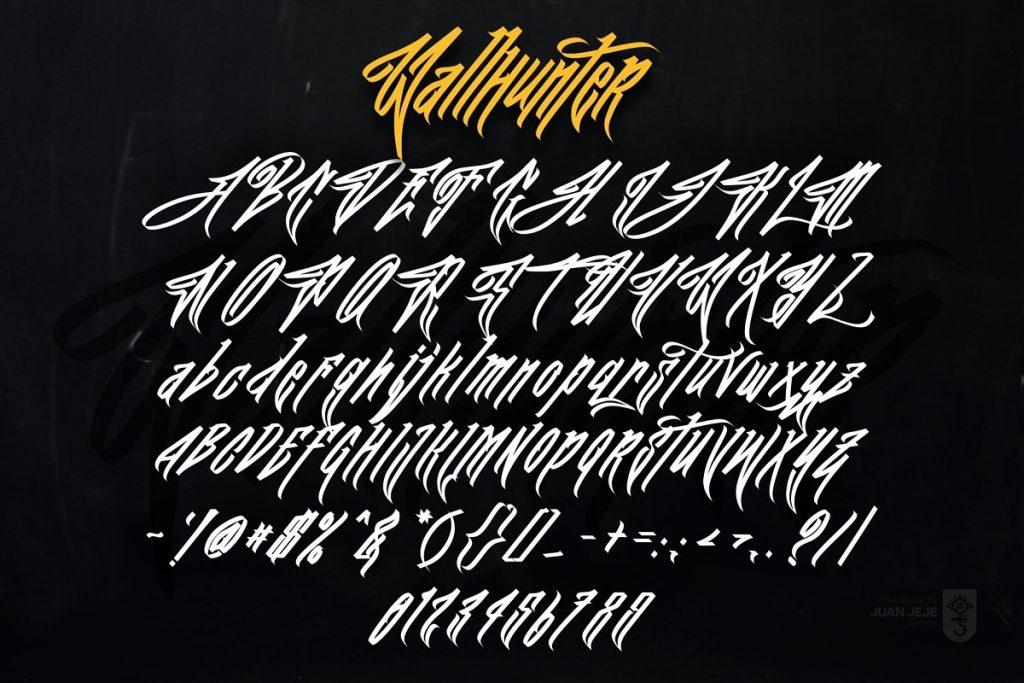 Wall Hunters Graffiti Tag Font Free Download 7 - Post