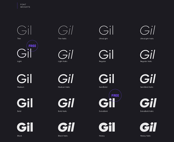 Gilroy Font Family Free Download