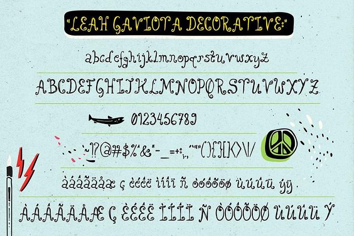 Leah Gaviota Font Family Free Download