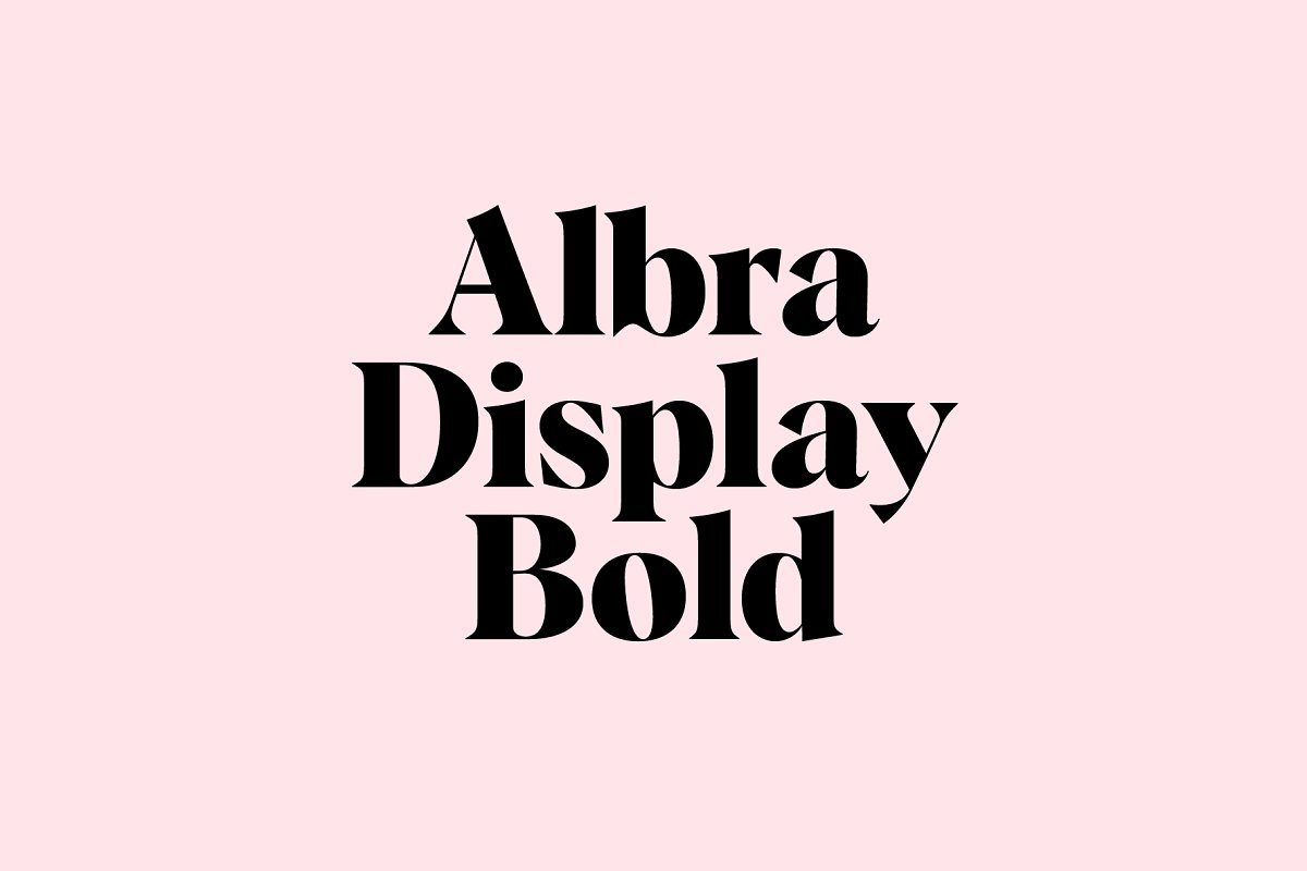 Albra Display Bold Font Free Download