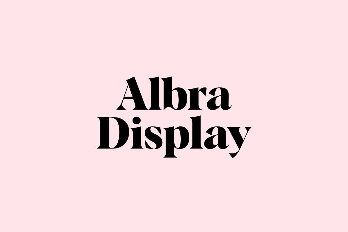 Albra Display Font