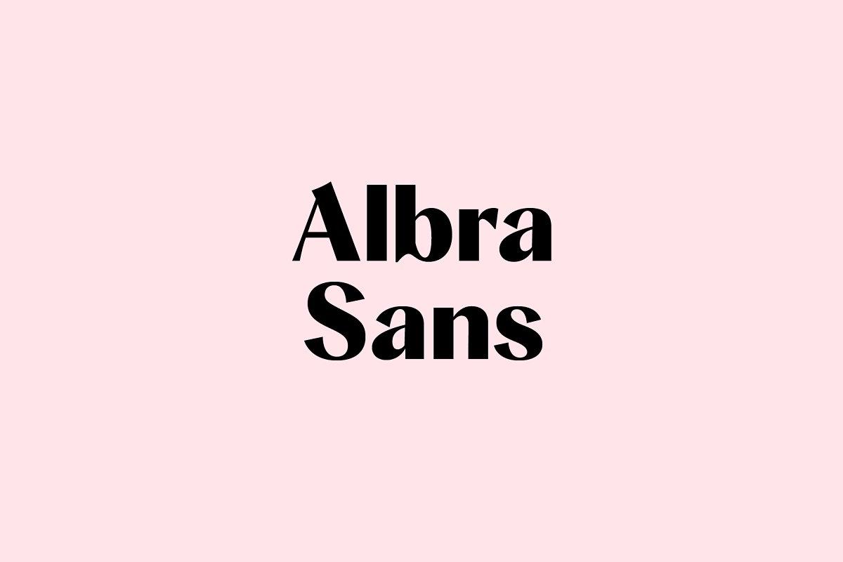 Albra Sans Font Collection