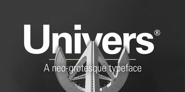 Univers Font Family Free Download