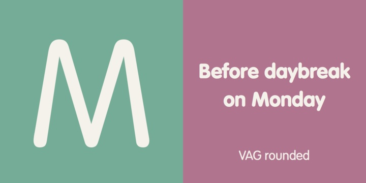 VAG Rounded Font Family
