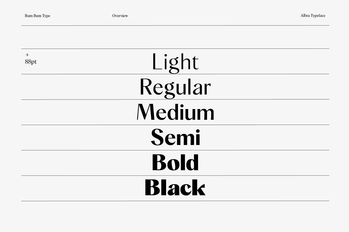 Albra Sans Font Collection