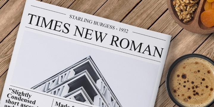 Times New Roman Font Free Download