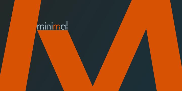 Minimal Font Family