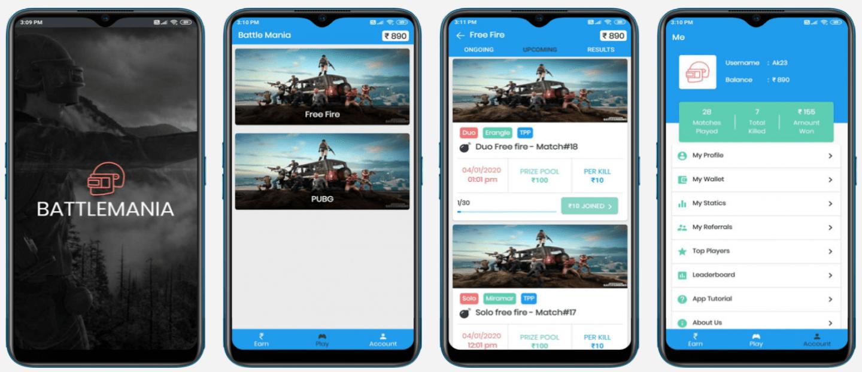 PUBG Tournament App Screenshot