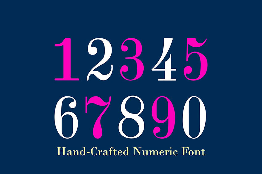 Best Number Fonts