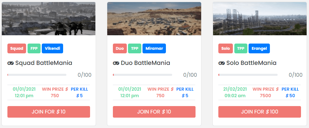 pubg tournamnet - Post