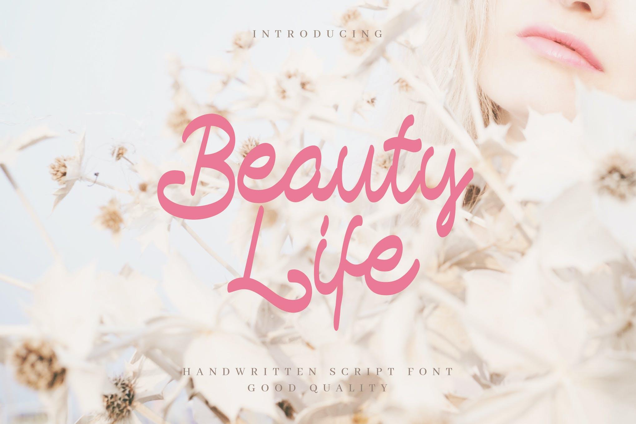 Beauty Life Handwritten Script