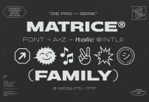 Matrice Font Family Free Download