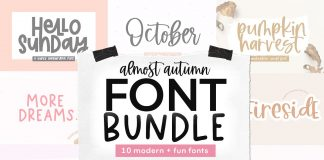 Handwritten Font Bundle - Almost Autumn Free Download