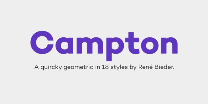 Campton Font Family Free Download