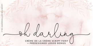 Oh Darling font family free download