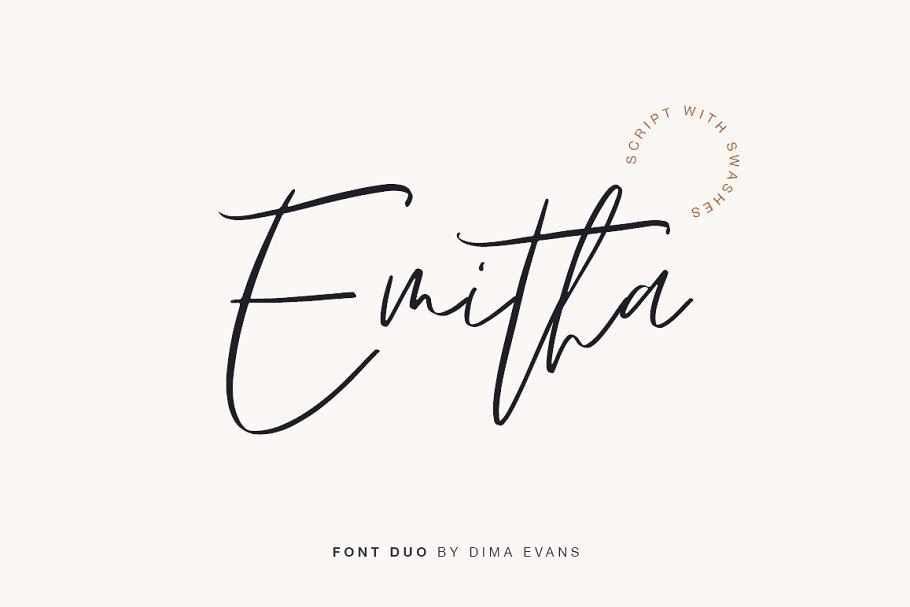 Emitha font family free download