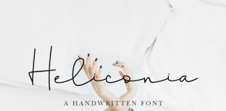 Heliconia Script Font family free download