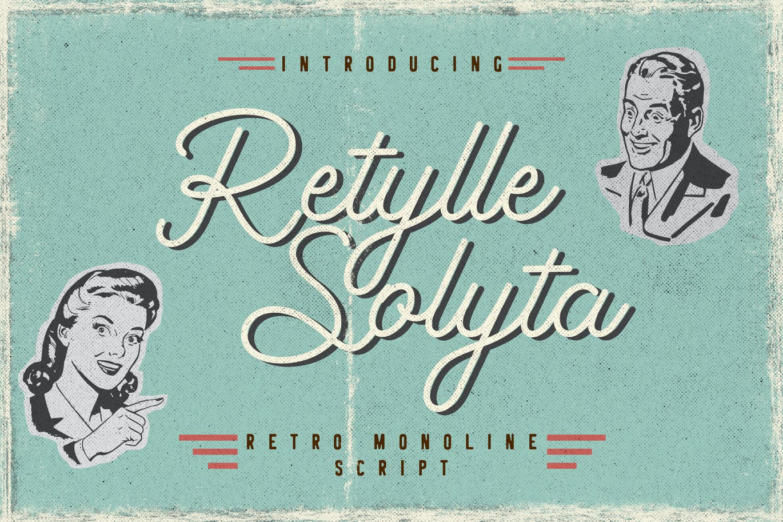 Retylle Solyta Monoline Font Free Download
